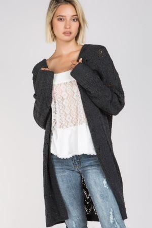 Long and lightweight cardigan