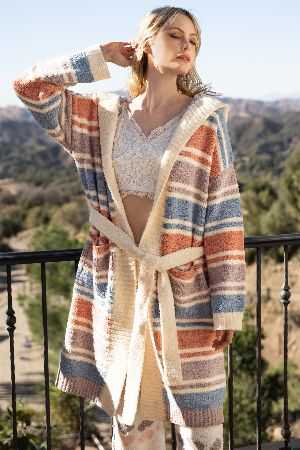Soft and cozy berber robe with hoodie