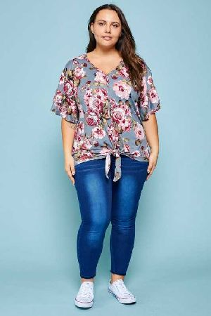 Plus Floral Button Down Top