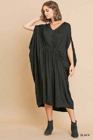 V Neck Caftan Maxi Dress