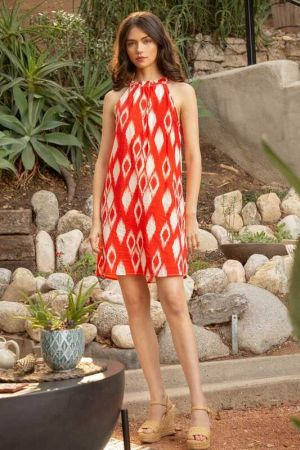 Halter Patter Dress