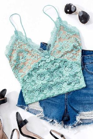 Eyelash lace two tone bralette