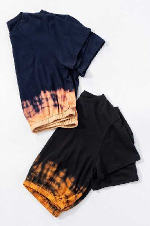 tie dye flame crop top