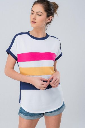 Spring color block front and one color block top