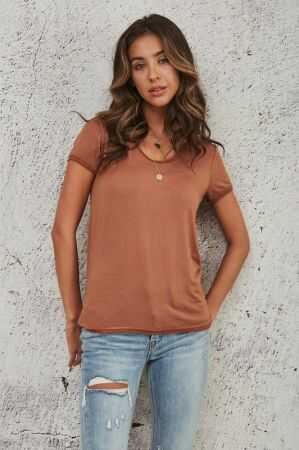 Double Seam Short Sleeve Top